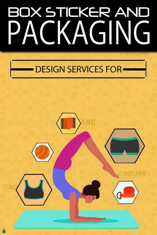 Box and sticker design services yoga company