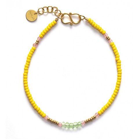 Anni Lu BG03 Bracelet (yellow), Støy Munkholm, 350 kr.