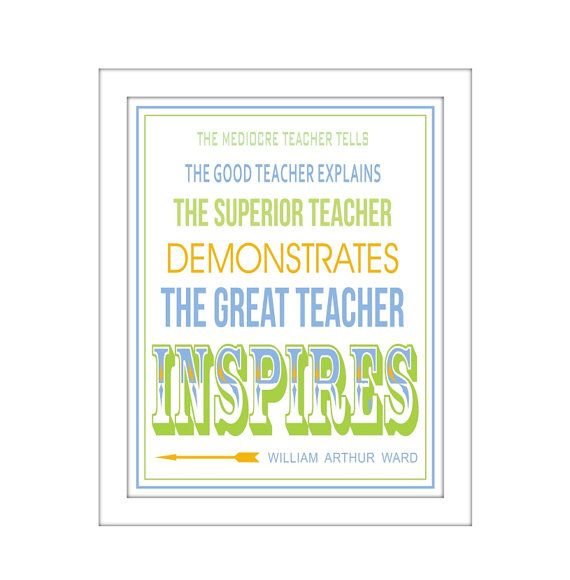 Famous Quote The Great Teacher Inspires by DoodleGraphics on Etsy, $14.00