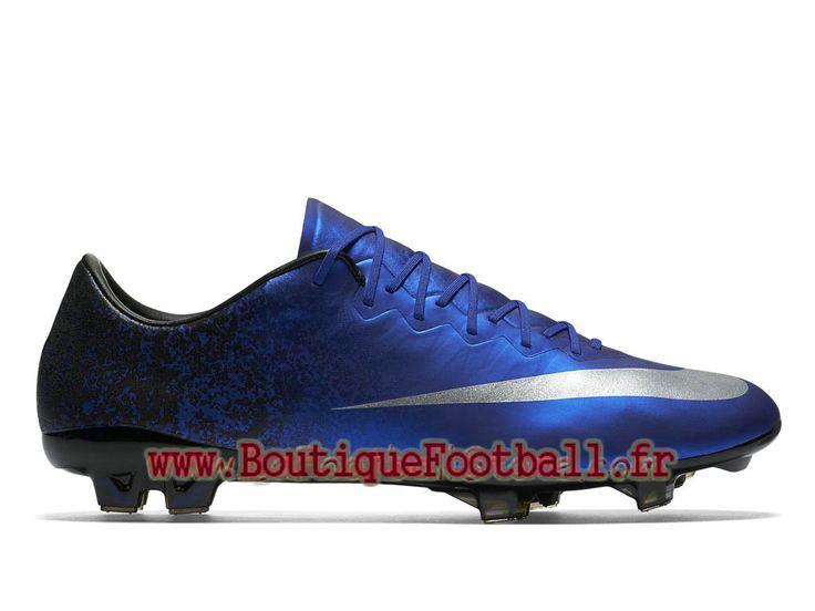 Nike Mercurial Vapor X FG CR7 Chaussure de football à crampons pour terrain sec pour Homme Bleu royal 684860_404