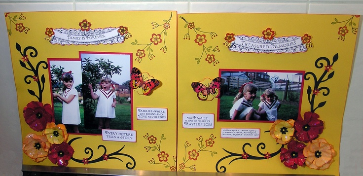 Family Memories 2 page layout - 'My Girls'