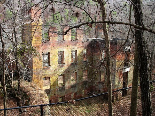 The New Manchester Manufacturing Company The ruins of a cotton mill that was burned in the Civil War are still hidden in a Georgia forest.