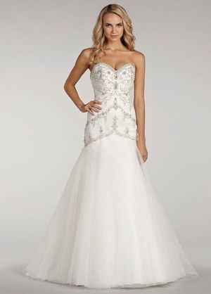Lovelle by lazaro sweetheart a line wedding dress with for How much is a lazaro wedding dress