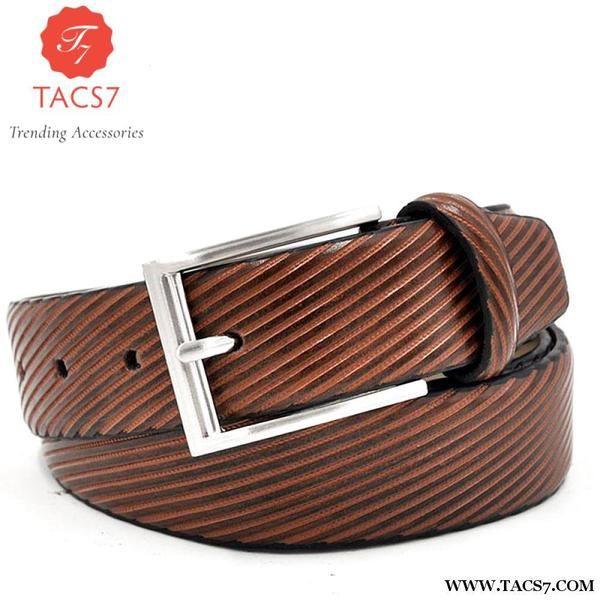 Men's Stylish Stripe Belt Trending Accessories