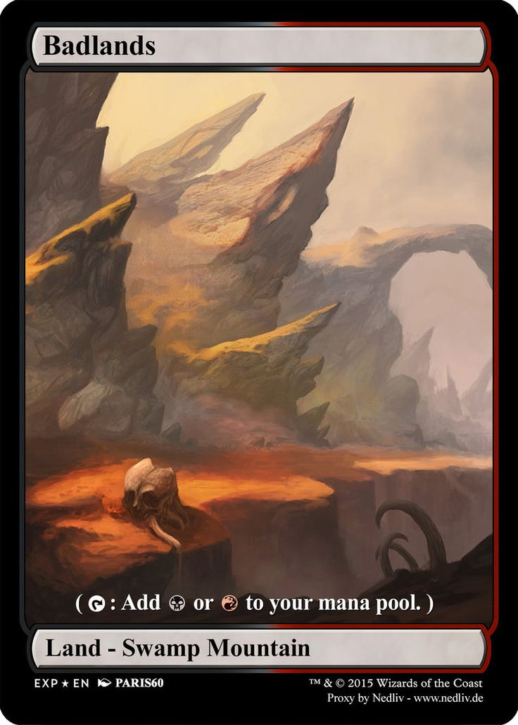MTG - Altered Fullart Proxy - Badlands by Nedliv on DeviantArt