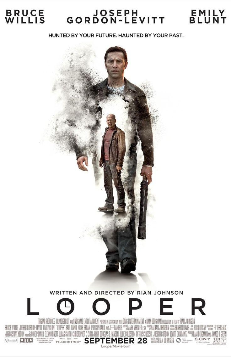New 'Looper' poster ~ Bruce Willis inside Joseph Gordon-Levitt...hmm..the old one is better