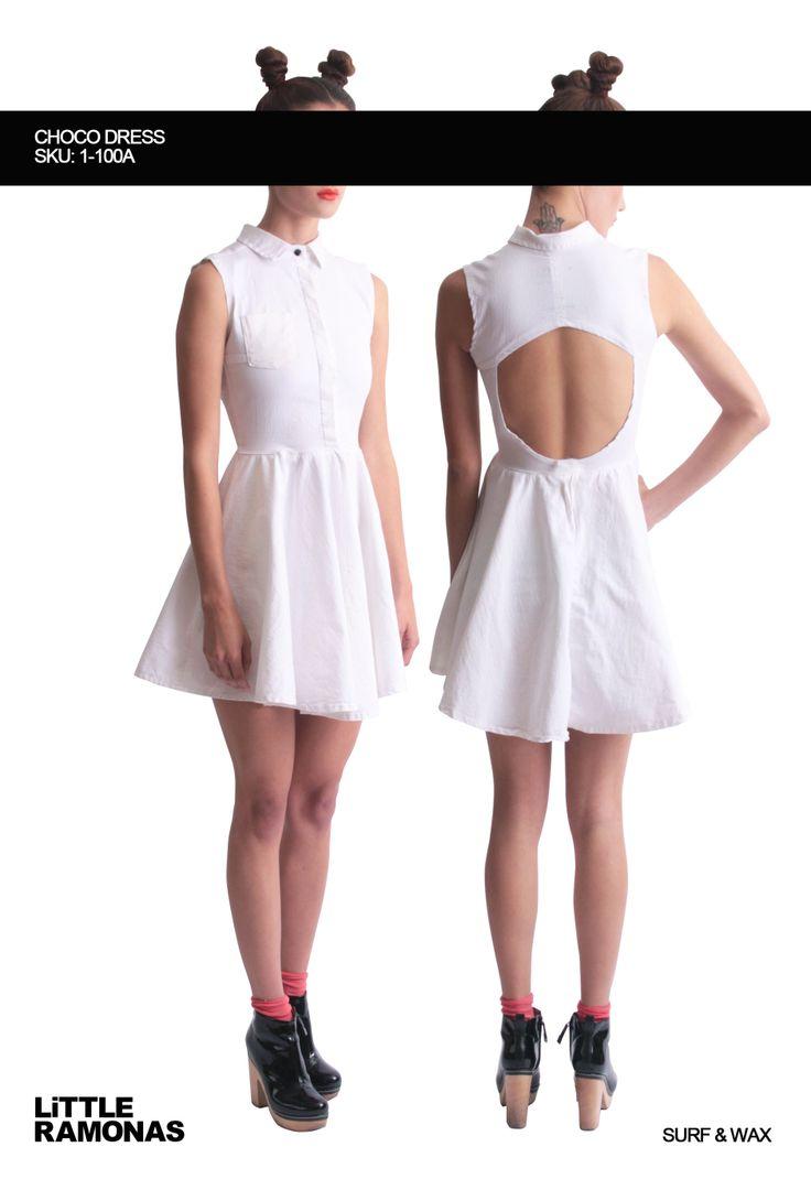 Choco White Denim Dress www.littleramonas.com