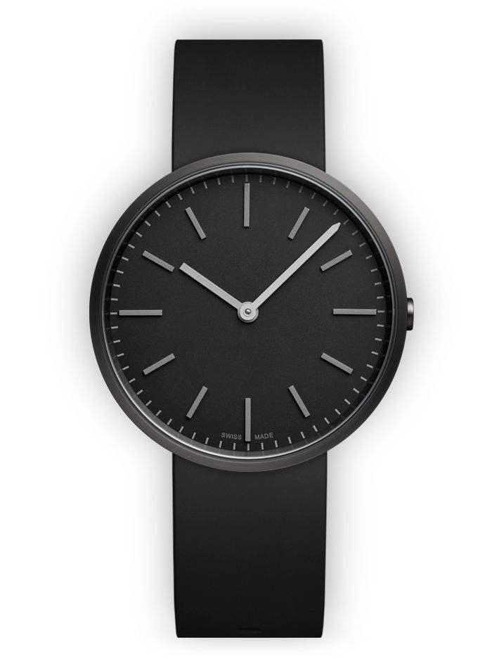 M37 Two-hand watch in PVD Black / with black nitrile rubber strap