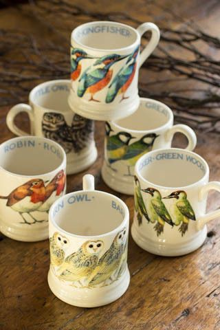Love these.  Churchmouse yarns.  Emma Bridgewater Bird Mugs