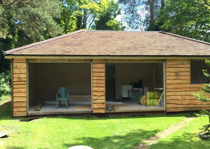 English Oak Waney Edged Cladding For Sheds, Cladding Garages Etc. In  Business, Office
