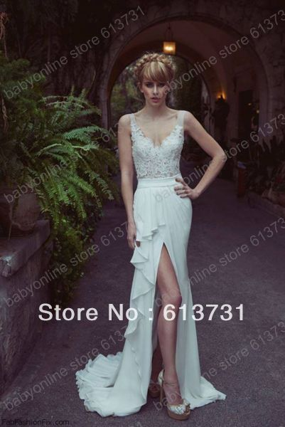 Sweetheart Appliques Lace Top Chiffon Sweep Train Sheath