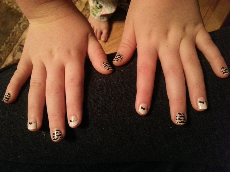 Jamberry - French Tip Bows & Little Mo Mo Jamberry Juniors for <9 ...