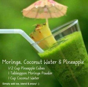 The World's Most Elegant Smoothie – Moringa, Pineapple,