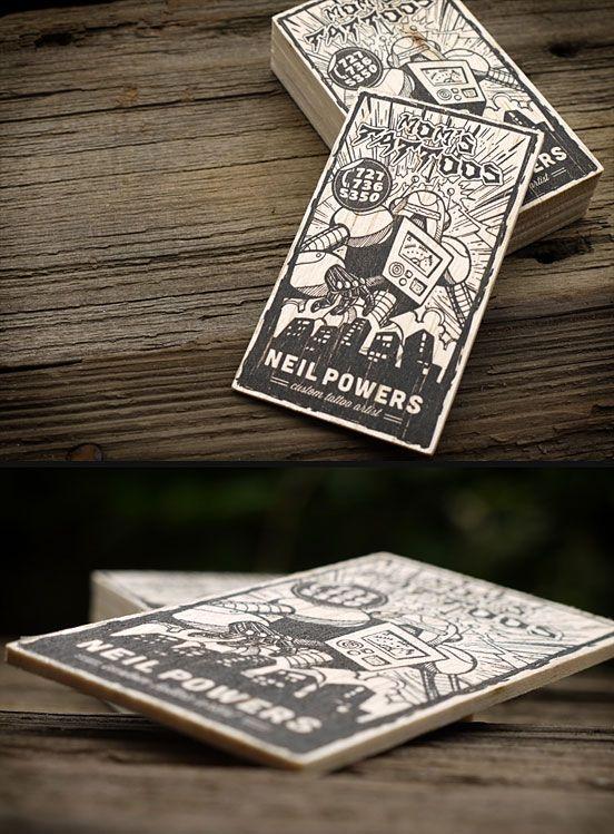 25 illustration based business card designs mom tattoos business cards and business. Black Bedroom Furniture Sets. Home Design Ideas