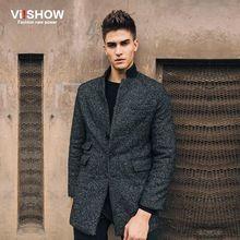 moda hombres abrigo de lana chaqueta informal para hombre chaquetón de lana capa delgada abrigos de invierno casaco masculino