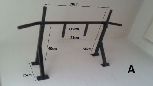 Chin-up Bar Wall Mounted Pull Up Gym Rack Equipment Workout Fitness