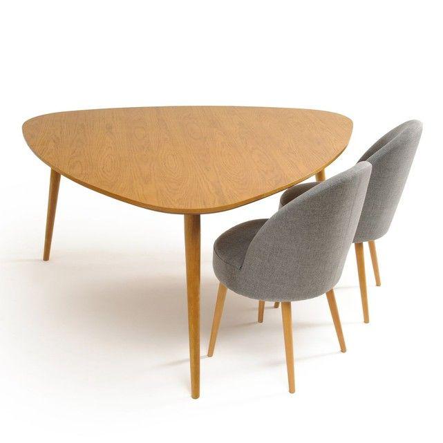 Table Chene 6 Couverts Quilda La Redoute Interieurs La Redoute Mobile Interieur Tafel Tafelblad