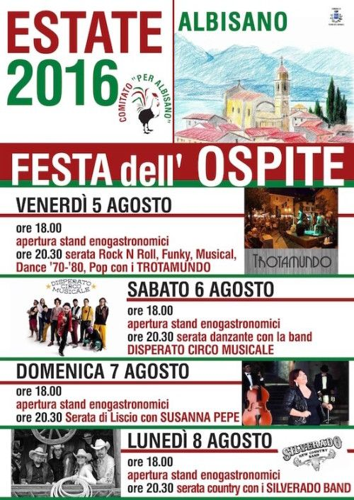 "This weekend Albisano, a district of Torri del Benaco, celebrates the 2016 Summer ""Feste dell'ospite "" (Guest Festival…"