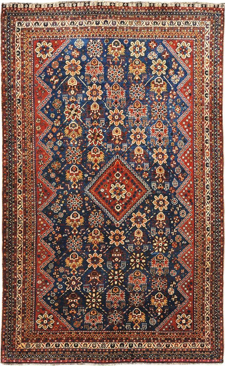 Polonaise antique oriental rugs - Persian Shiraz Qashqai Rug 4 4 X 7 0 J H