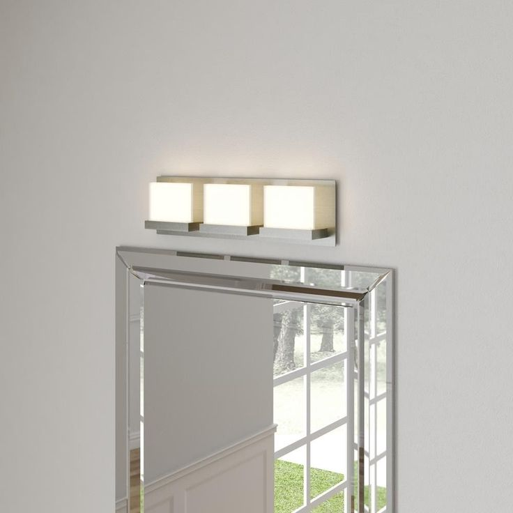 3 Light Brushed Nickel LED Bathroom Vanity Bar Light 1050 Lumens ETL Listed #HomeDecoratorsCollection