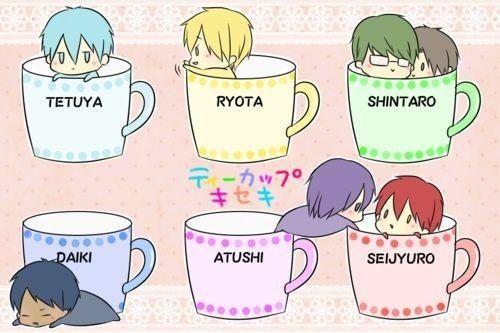 Aomine Daiki, Midorima Shintarou, Murasakibara Atsushi, Akashi Seijurou, Kise Ryota, Kuroko Tetsuya