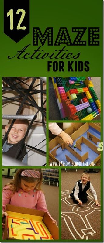 STEM - 12 Maze Activities for Kids (Preschool, Kindergarten, 1st-4th grade) What a fun way for kids to create these unique mazes, problems solve, and learn through play!