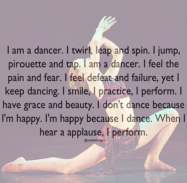 Dancing is all about freedom...freedom of the mind, and the will, letting the music flow through your heart and letting the music move you...-Jaz