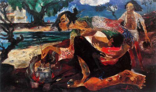 Masak Bekicot (Cooking Snails) Hendra Gunawan, 1971