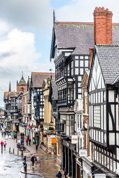 Beautiful Street in Chester, England