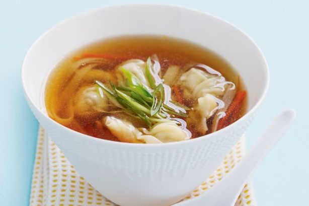 Chicken wonton noodle soup_ There is no need to cook separate meals for the toddlers. This sensational noodle soup is delicious for those of us big and small.