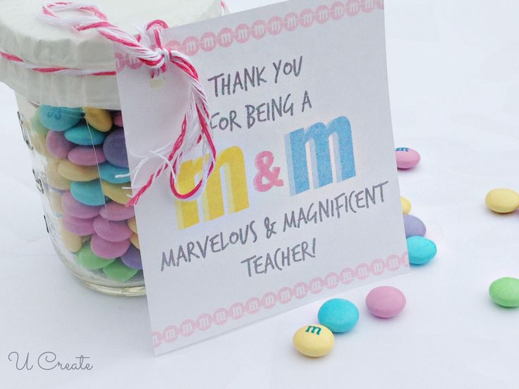 m & m teacher appreciation quotes | Teacher Appreciation Printable - M&M Style!