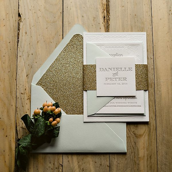 gold glitter wedding invitations kristin suite glitter package boda 4534
