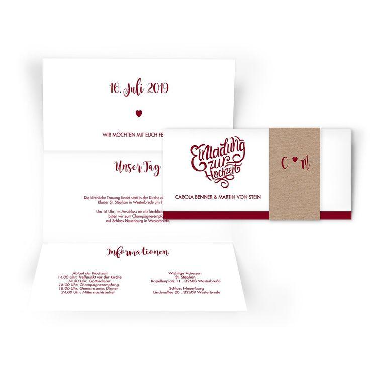 Hochzeitseinladung Blumenkranz Koralle Mittlere Postkarte Hoch