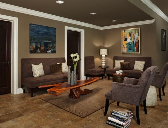 Nice Trendige Ideen In Braun F\u00fcr Ihr Wohnzimmer Trendomat.com Amazing Ideas