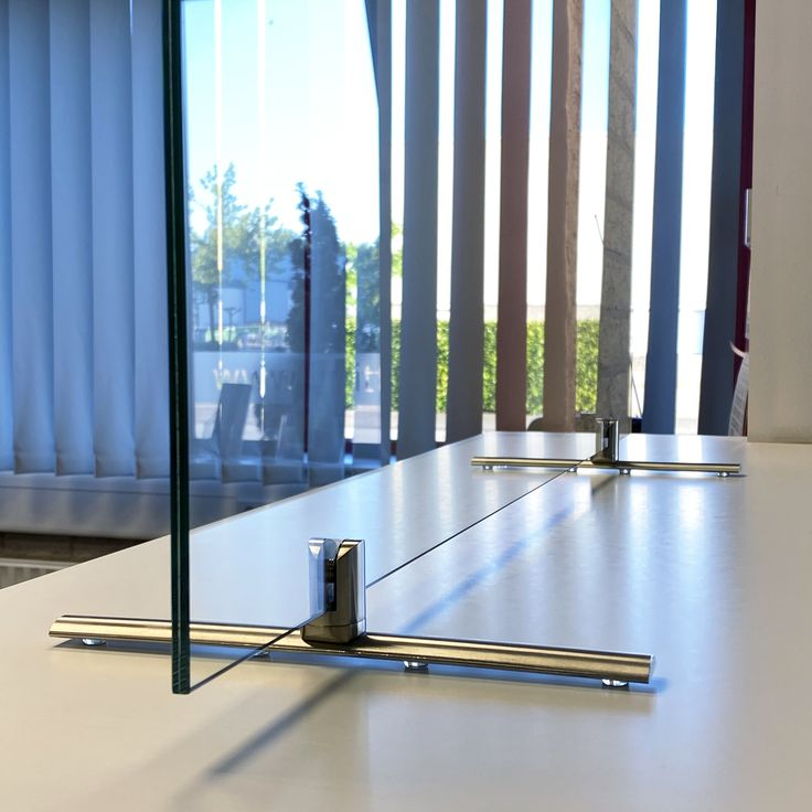 Pin on glass sneeze guard system