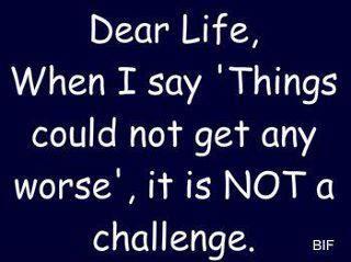 dear life..... lol