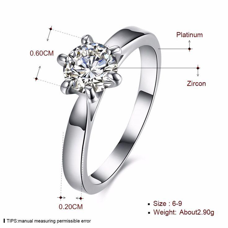 Классический шесть коготь 1 карат 6 мм циркон обручальные кольца для женщин Серебряные украшения цвет обручальные кольца женские Анель Bijoux брендкупить в магазине Rose Fashion Jewelry CO., LTD.наAliExpress