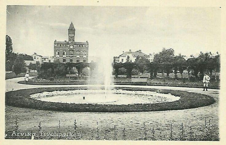 Värmland Arvika kommun Tivoliparken tidlig 1900-tal utg August Jacobsons Bokhandel