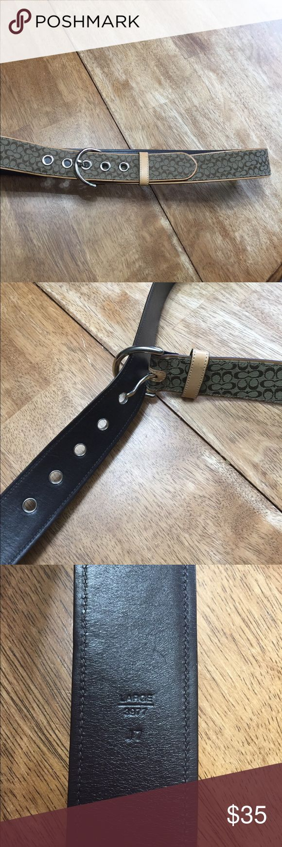 Fantastic Coach Belt NWOT Awesome Coach belt (large) laying flat smallest loop 16in largest loop 191/2in Coach Accessories Belts