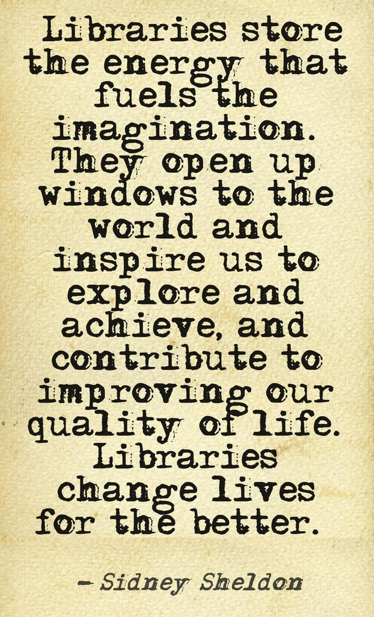 Sidney Sheldon Libraries Quote Imagination!