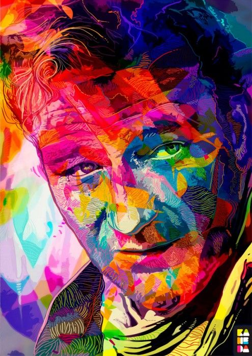 Great drawin: Pop Art, Art Inspiration, Colors, Alessandro Pautasso, John Wayne, Illustration, Johnwayne, Painting