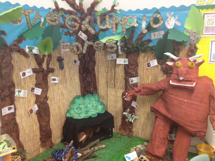 Gruffalo forest display, Danny Thorpe, Oakfield Primary School UK