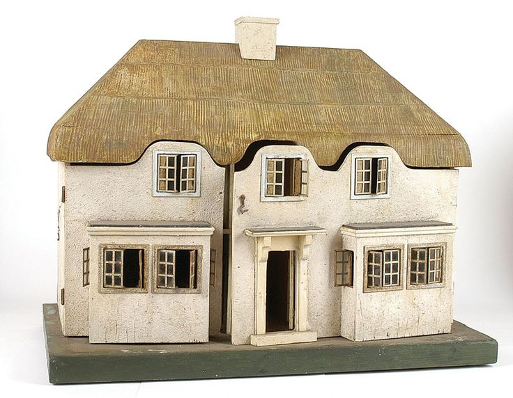 """Triang """"Princess"""" Dolls House, No.6518, 1930s, modelled on Princess Elizabeth's (now Queen Elizabeth II) """"Y Bwthyn Bach"""" (The Little House). Presented in 1932 to Princesses Elizabeth and Margaret in the name of the people of Wales."""
