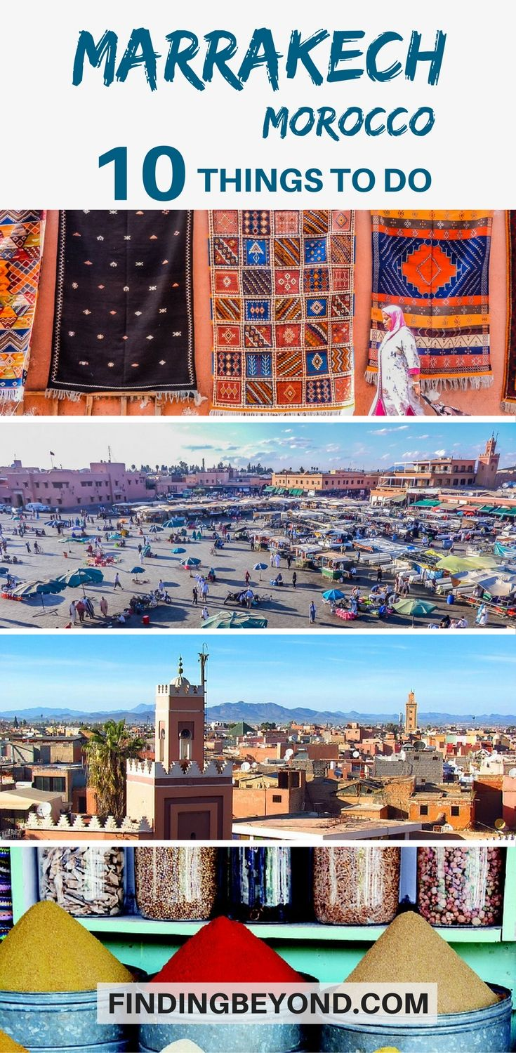 Going to #Marrakech, #Morocco? Here are the best things to do in the city. | #VisitMarrakesh | Top things to do in Marrakech | Highlights of Marrakech | Explore Marrakesh | Must see places in Morocco | Travel in Morocco | Marrakech Markets | Top attractions in Marrakech | Marrakech Souks | Marrakech tagine | Visit Jemaa el-Fna | Explore Ben Youssef Medersa | #marrakechtips #travel #moroccoguides #bestofmarrakech #bestthingstoseemarrackech #placestovisitmarrackech #moroccotips #visitmarrakech