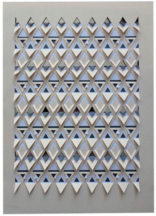 trainglesPaper Cut, Paper Art, Triangles Papercut, Grey Papercut, Cut Paper, Sarah Louise, Paper Crafts, Papercut Pattern, Louise Matthew