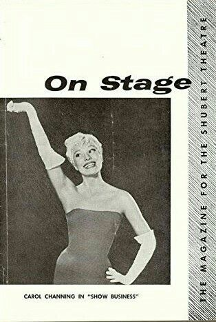 """Theatre Programme from the Premiere Detroit Tryout Production of the Charles Gaynor musical review """"Show Business,"""" which performed from April 25 thru May 8, 1960 at the Shubert-Lafayette Theatre (Demolished in 1964, this theatre was located at 153 West Lafayette Avenue). Carol Channing starred in the production."""