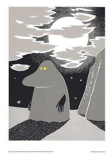 Moomin Poster Groke Tove Jansson 24 x 30 cm | eBay