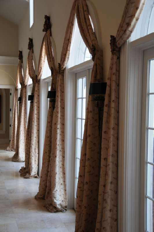 windows on arch drapes door images french arched best dressings huge susankindel brilliant treats more window pinterest for treatments curtains