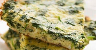 Como hace una Tortilla de espinaca saludabel, baja en calorias, al horno facil. Receta de Tortilla de espinaca al horno facil. Receta light de Tortilla de espinaca al horno facil.