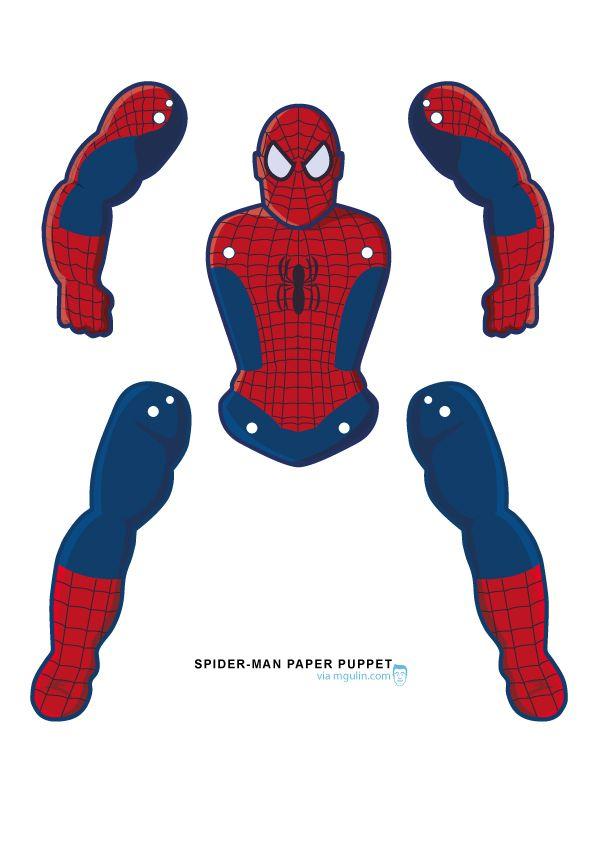 Spider-man paper puppet